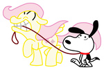 crossover fluttershy highres peanuts snoopy toonfreak transparent