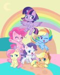 applejack fluttershy g4.5 highres main_six mofumofutchi pinkie_pie princess_twilight rainbow_dash rarity twilight_sparkle