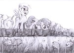 cannibalus derpy_hooves fish golden_harvest grayscale