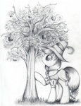 apples highres nika191319 smart_cookie traditional_art tree