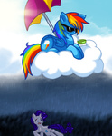 britishstarr drink glasses huge_jerk rainbow_dash rarity sunglasses umbrella