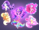 absurdres applejack elements_of_harmony fluttershy highres main_six pinkie_pie princess_twilight rainbow_dash rarity siggie740 twilight_sparkle