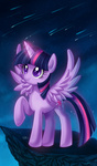 feli highres magic princess_twilight shooting_star twilight_sparkle wings