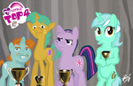 bipedal livestream lyra_heartstrings page_3_second_gunman parody snailsquirm snipsy_snap spectralunicorn twilight_sparkle