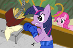 ambrosebuttercrust pinkie_pie twilight_sparkle