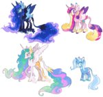 8-xenon-8 classical_unicorn highres princess_cadance princess_celestia princess_luna redesign the_great_and_powerful_trixie
