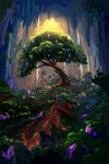cave plainoasis princess_twilight scenery spike tree twilight_sparkle