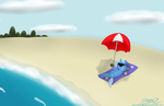 beach coconut mikoruthehedgehog slacking_is_magic the_great_and_powerful_trixie umbrella