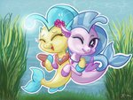 catscratchpaper highres princess_skystar silverstream swimming underwater