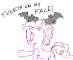 :3 bat comic flockdraw hipster-ponies lineart pinkie_pie