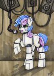 madblackie microphone robot sweetie_belle traditional_art