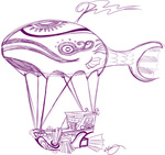 airshipping betweenfriends dirigible sketch
