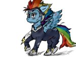 costume gloomfy power_ponies rainbow_dash zapp