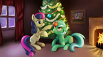 br0ny christmas christmas_tree lyra_heartstrings sweetie_drops