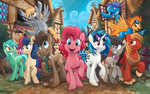 berry_punch big_macintosh daring-do derpy_hooves kenket lyra_heartstrings octavia_melody pinkie_pie rose sophiecabra spitfire sweetie_drops the_great_and_powerful_trixie thunderlane time_turner vinyl_scratch wild_fire