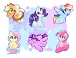 applejack chibi fluttershy highres hungrysohma16 main_six pinkie_pie princess_twilight rainbow_dash rarity twilight_sparkle
