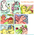 applejack_(g1) baby breezie bubbles dipper firefly fizzy g1 g3 reaperfox seaponies skydancer traditional_art