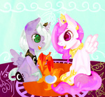 banananamilk filly philomena princess_celestia princess_luna