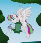 bird bird_feeder blossomforth pegasi_acting_like_birds ravenpuff seed