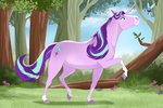 absurdres flowers highres horselike parasprite scutterland starlight_glimmer trees