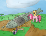 airshipping applejack dirigible pinkie_pie speccysy twilight_sparkle