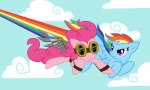 artist_unknown goggles pinkie_pie rainbow_dash wings