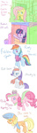 applejack ask askfluttershyandpinkiepie book book_fort costume dog_fort fluttershy fort gummy highres juice_box lobster main_six parody pinkie_pie rainbow_dash rarity speccysy twilight_sparkle whale