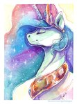 absurdres gaelledragons highres princess_celestia traditional_art