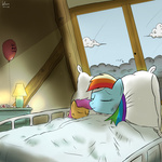 khan-the-cake-lover rainbow_dash scootaffection scootaloo sleeping