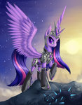 armor asimos highres princess_twilight twilight_sparkle vine