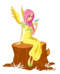 bird dress fluttershy humanized lexxy