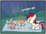 background_ponies cake canterlot daisy lily_valley meme nyoro~n parody rose toy why485