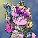 book glasses portrait princess_cadance saturnspace shining_armor steampunk