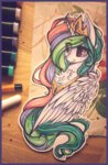 absurdres ddye088 highres huge_filesize princess_celestia traditional_art