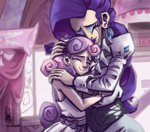 carousel_boutique commission hugs humanized livestream rarity sweetie_belle tears the_artrix