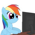 (╯°□°)╯︵┻━┻ animated lowres pixel_art rainbow_dash reaction_image tomdantherock