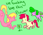 background_ponies daisy flowers lily_valley mspaint ponygoggles rose