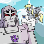 crossover derpy_hooves madmax megatron pacce transformers