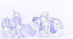lineart octavia_melody pinkie_pie princess_luna sir_radical vinyl_scratch