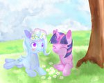 aosion flowers magic the_great_and_powerful_trixie twilight_sparkle
