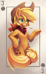 applejack bipedal hanabitaihou playing_card