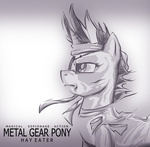 bandage eyepatch fatalpony future_twilight grayscale metal_gear_solid twilight_sparkle