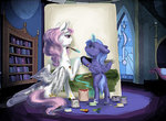 magic mishariel paint painting princess_celestia princess_luna