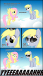 comic csi derpy_hooves fluttershy glasses highres ohthatandy parody pun