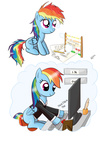 abacus blank_flank computer filly how_do_you_type_with_hooves rainbow_dash ratofdrawn transparent