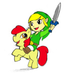 apple_bloom crossover elosande link nintendo sword the_legend_of_zelda weapon