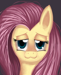 :3 fluttershy mewball portrait tired