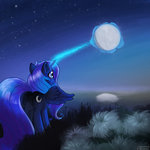 exploretheweb highres magic moon nighttime princess_luna stars
