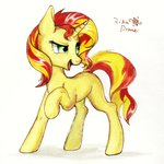 highres rikadiane sunset_shimmer traditional_art