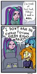adagio_dazzle aria_blaze car comic equestria_girls highres humanized puffpink sonata_dusk the_dazzlings